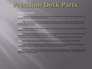 P recision Deck Parts