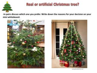 Real or artificial Christmas tree ?