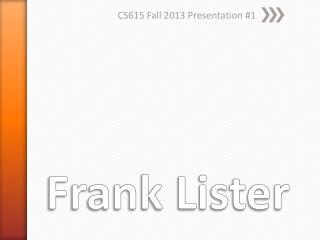 Frank Lister