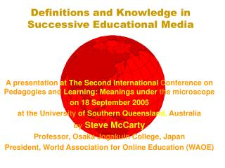 Definitions and Knowledge in Successive Educational Media