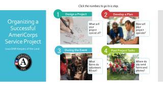 Organizing a Successful AmeriCorps  Service Project