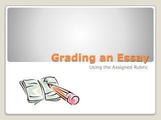 Grading an Essay