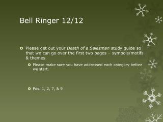 Bell Ringer 12/12