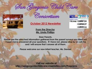 October  2012 Newsletter