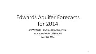 Edwards Aquifer Forecasts for 2014