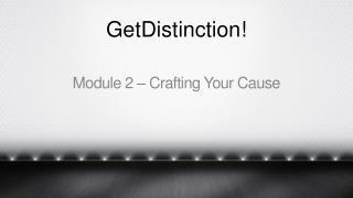 GetDistinction!