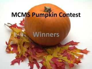 MCMS Pumpkin Contest