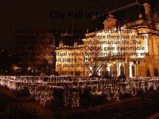 City Hall of Iasi