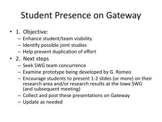 Student Presence on Gateway
