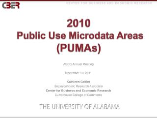 2010  Public Use  Microdata  Areas  (PUMAs)