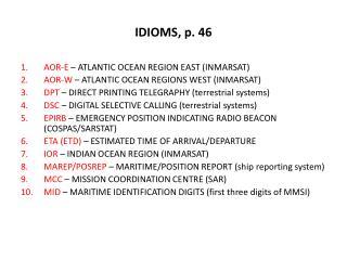 IDIOMS, p. 46