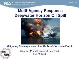 Multi-Agency Response Deepwater Horizon Oil Spill