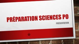 Préparation Sciences po