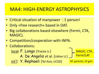 MA4: HIGH-ENERGY ASTROPHYSICS