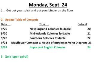 Monday, Sept. 24
