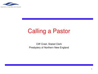 Calling a Pastor