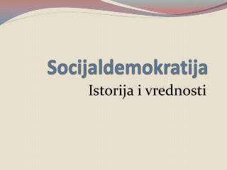 Socijaldemokratija