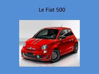 Le Fiat 500
