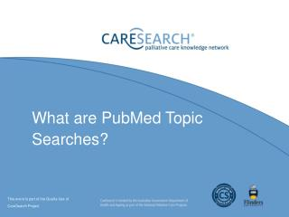 What are  PubMed  Topic Searches?