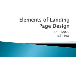 Elements of Landing Page Design