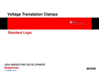 Voltage Translation Clamps