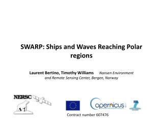 SWARP: Ships and Waves Reaching Polar regions