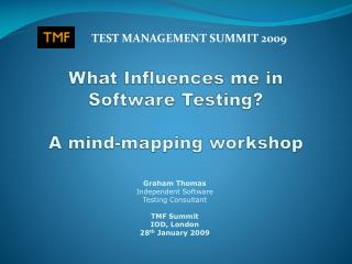 What Influences me in Software Testing? A mind-mapping workshop