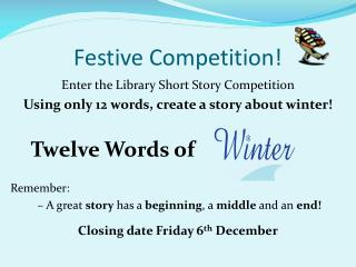 Festive Competition!