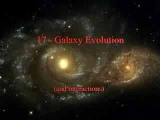 17 - Galaxy Evolution