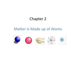 Chapter  2 Matter is Made up of Atoms