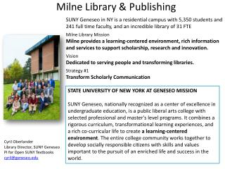 Milne Library & Publishing