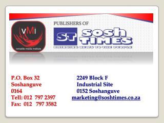 SOSH TIMES PROFILE