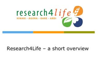 Research4Life  – a short overview