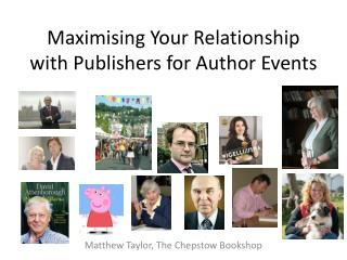Maximising Your Relationship with Publishers for Author Events