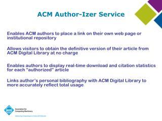 ACM Author-Izer Service