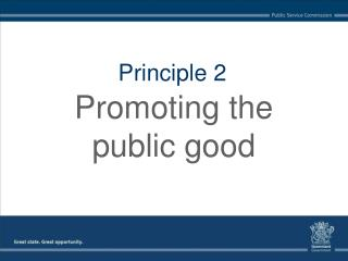 Promoting the public good