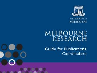 Guide for Publications Coordinators