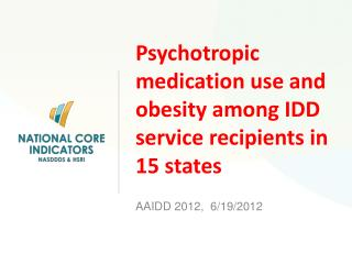 Psychotropic medication use and obesity among IDD service recipients in 15 states