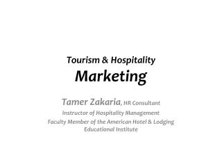 Tourism & Hospitality  Marketing