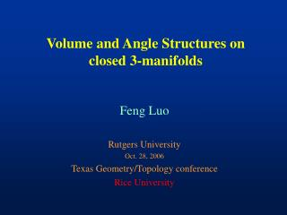 Volume and Angle Structures on closed 3-manifolds