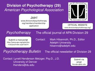 Psychotherapy      The official journal of APA Division 29