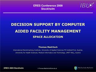 ERES Conference 2009 Stockholm
