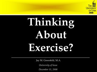 Thinking About Exercise?