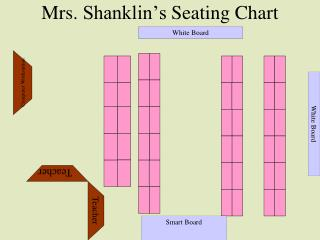 Mrs.  Shanklin's  Seating Chart