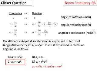 angle of rotation ( rads )