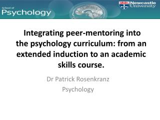 Dr Patrick Rosenkranz Psychology