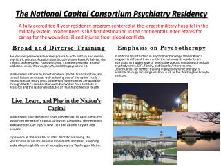 The National Capital Consortium Psychiatry Residency