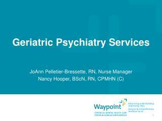 Geriatric Psychiatry Services
