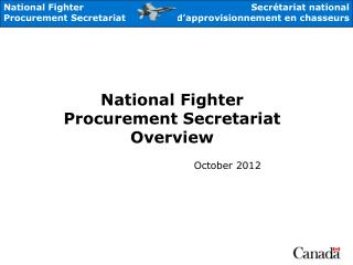 National  Fighter Procurement Secretariat Overview