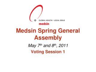 Medsin  Spring General Assembly